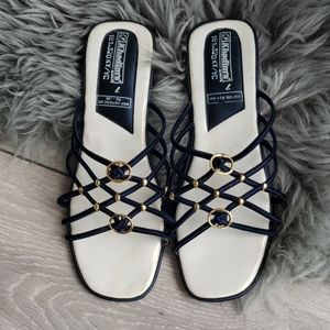 Minimalist Navy Blue & Gold. Minimalist sandals